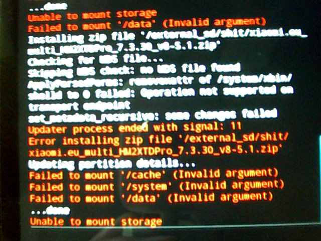 Tutorial atasi masalah Failed To Mount System (Invalid Argument) pada IMO S900 Groovy via TWRP